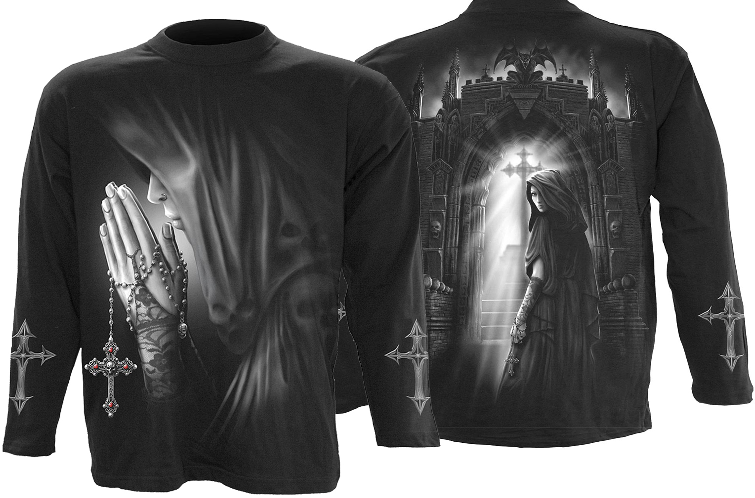 SPIRAL Exorcism Longsleeve T-Shirt Black D022M301