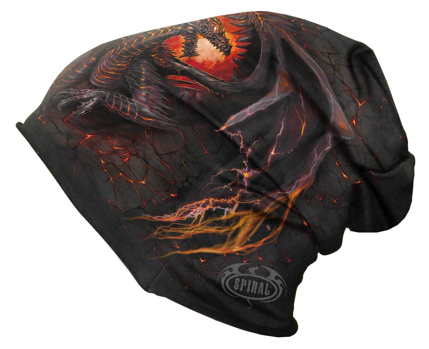 SPIRAL Dragon Furnace Baumwollbeanie schwarz L016A801