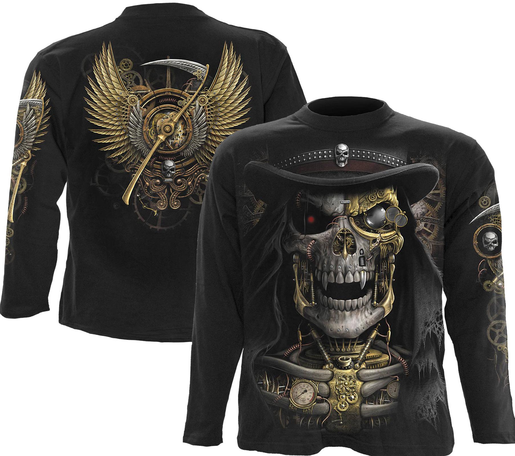 SPIRAL Steam Punk Reaper Longsleeve T-Shirt Black M011M301