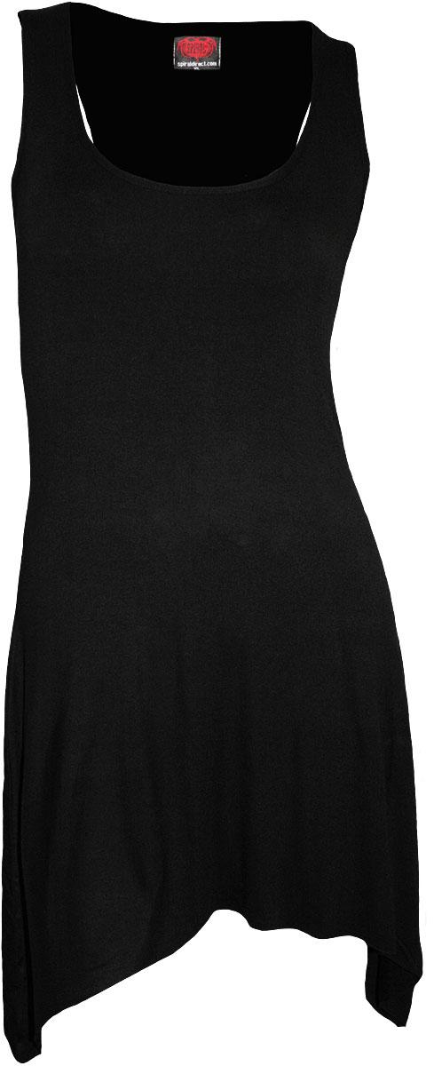 SPIRAL Gothic Elegance Goth Bottom Camisole Dress Black P001F105