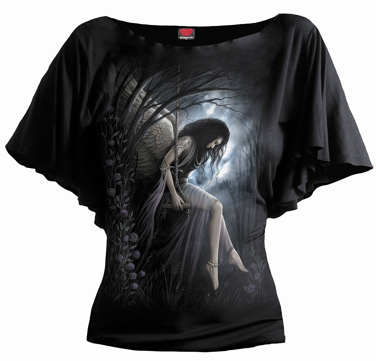 SPIRAL Angel Lament Girlie Latin Shirt schwarz T047F719