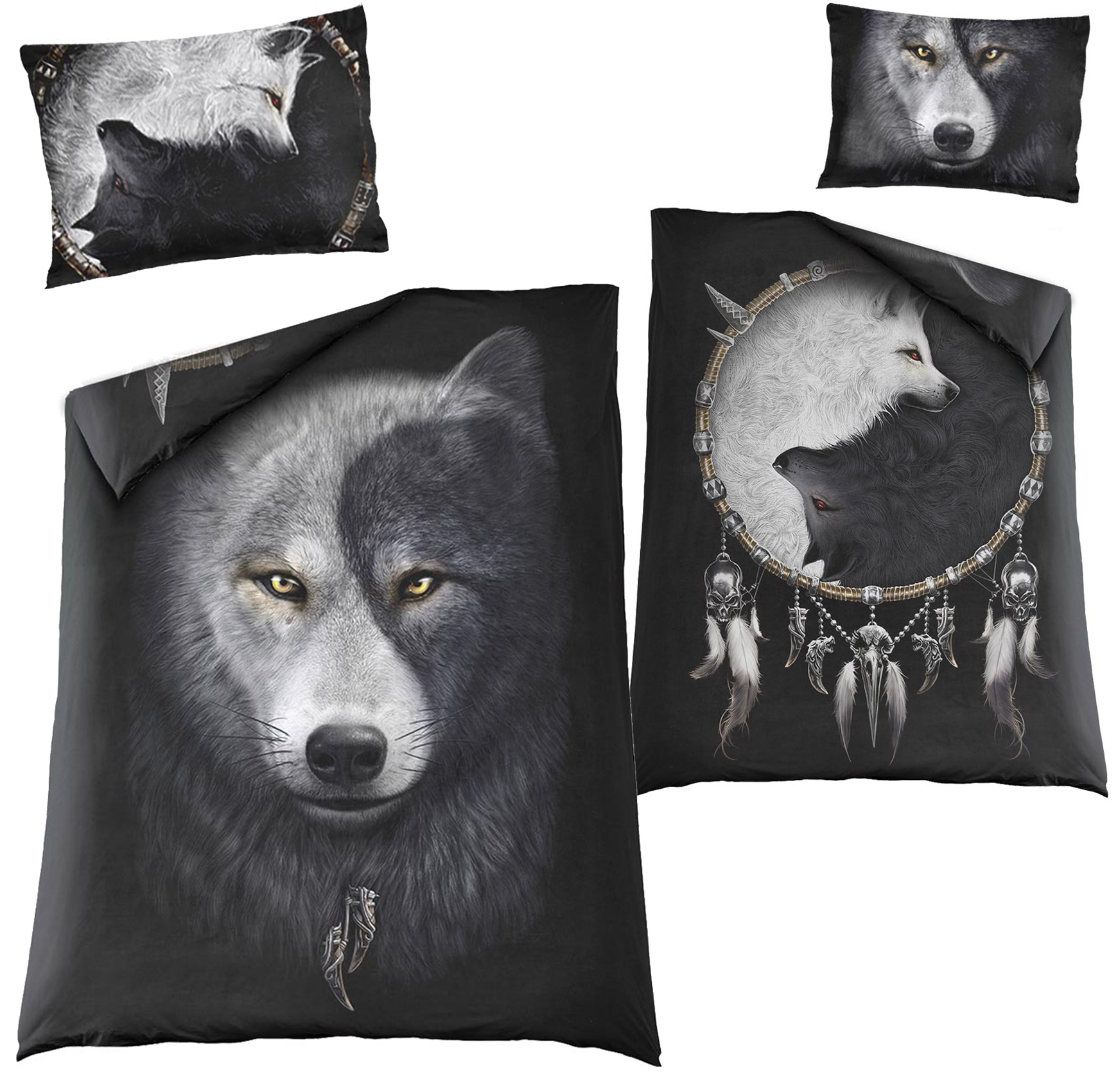 SPIRAL Wolf Chi Single Duvet Cover + UK And EU Pillow case  T118A508