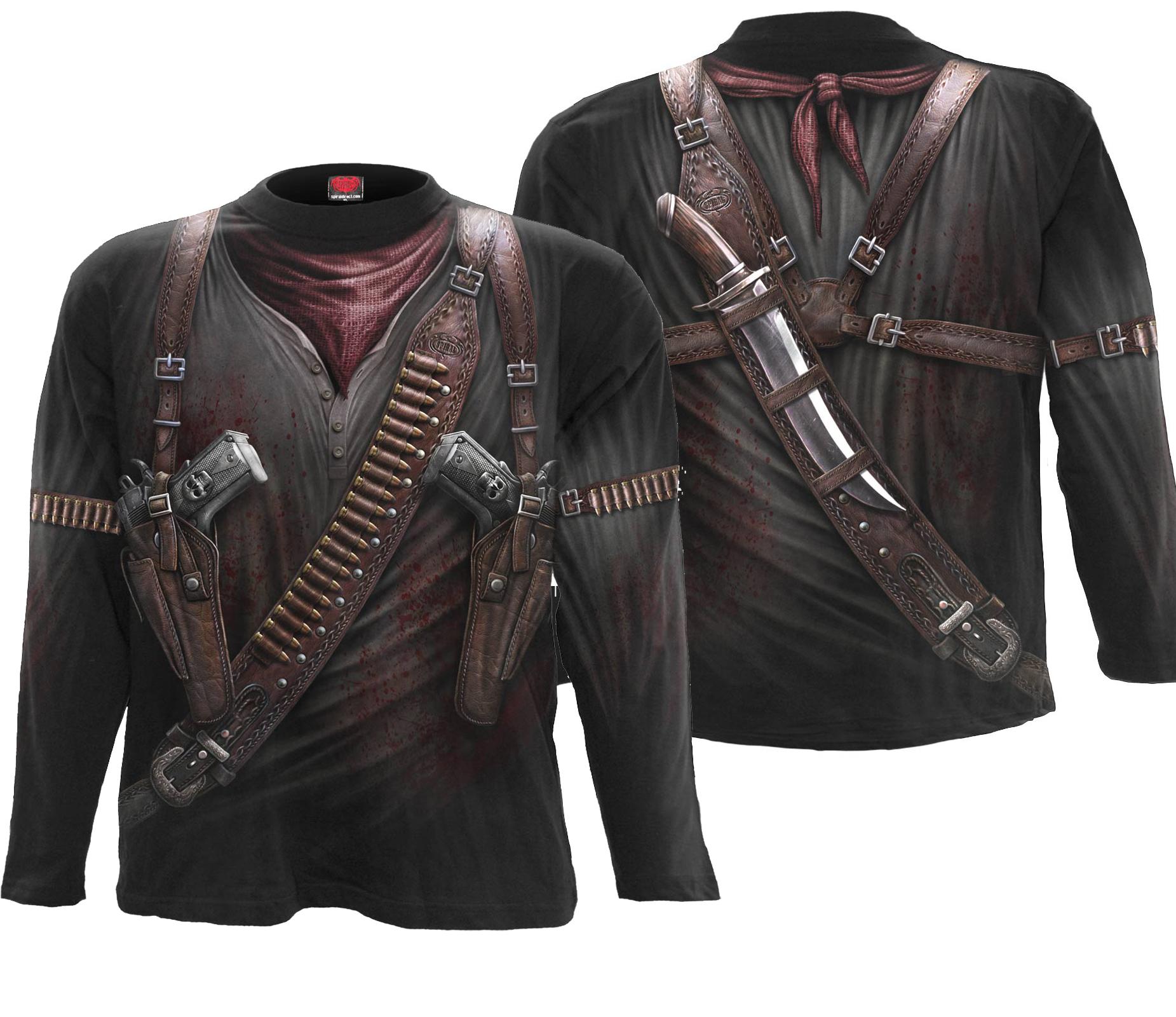 SPIRAL Holster Wrap Langarm Shirt Rundumdruck W022M304