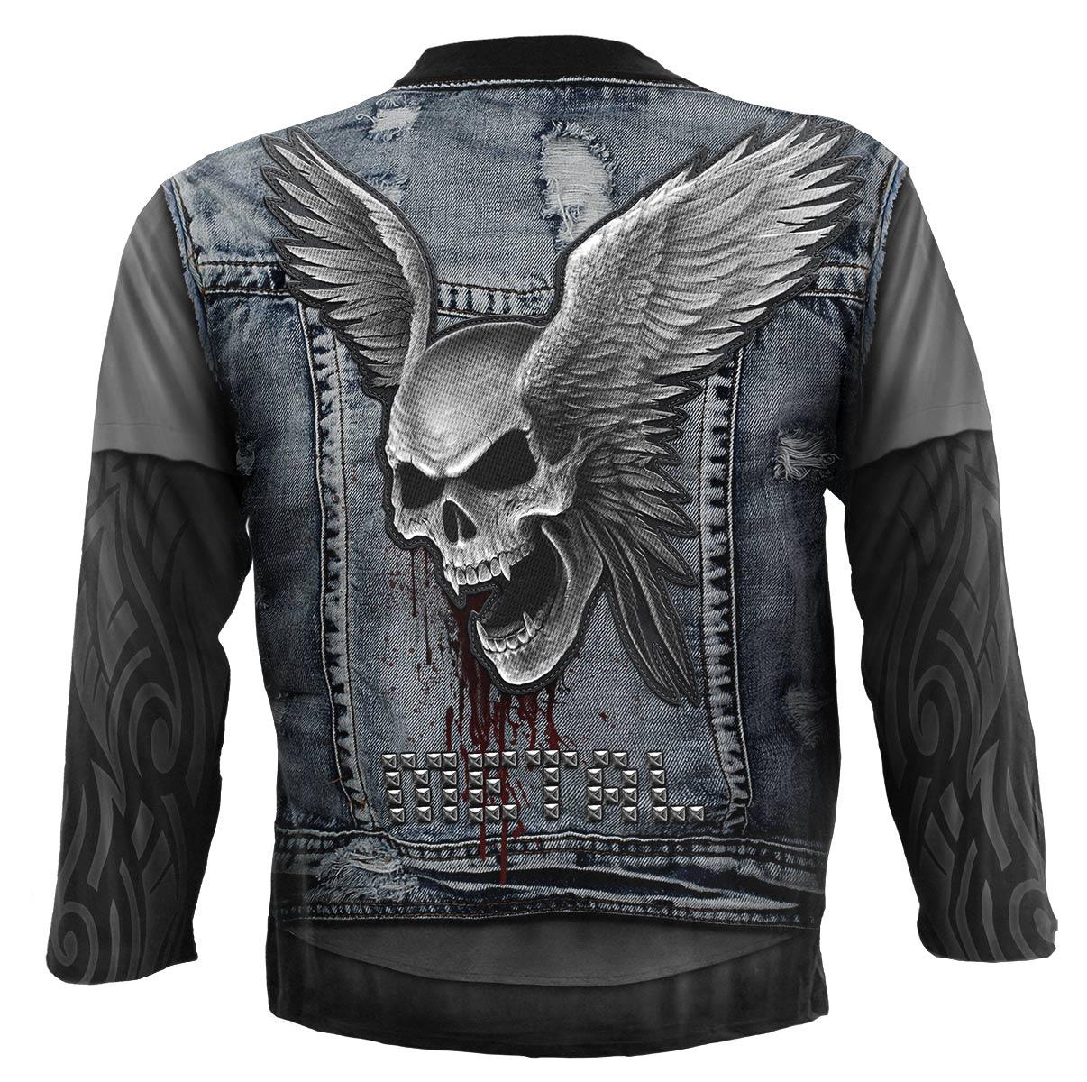 SPIRAL Thrash Metal Langarm Shirt Rundumdruck W024M304